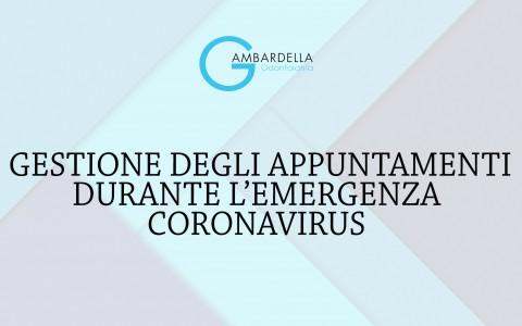 Gestione degli appuntamenti durante l'emergenza coronavirus