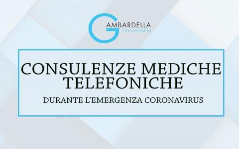 Disponibili per consulenze mediche telefoniche
